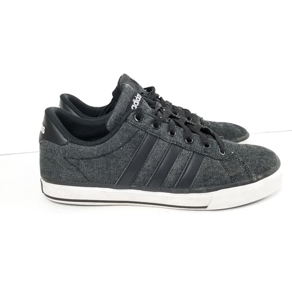 online store 24118 d91b3 adidas Other - Adidas Men s Daily 2.0 Black Denim White Sz 8.5